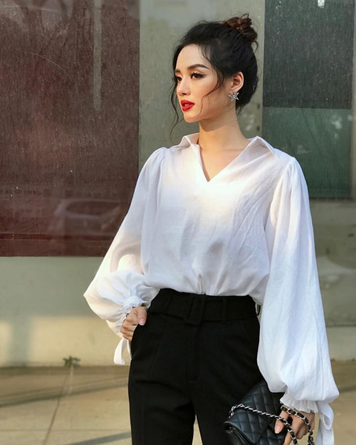 Áo blouse tay bồng