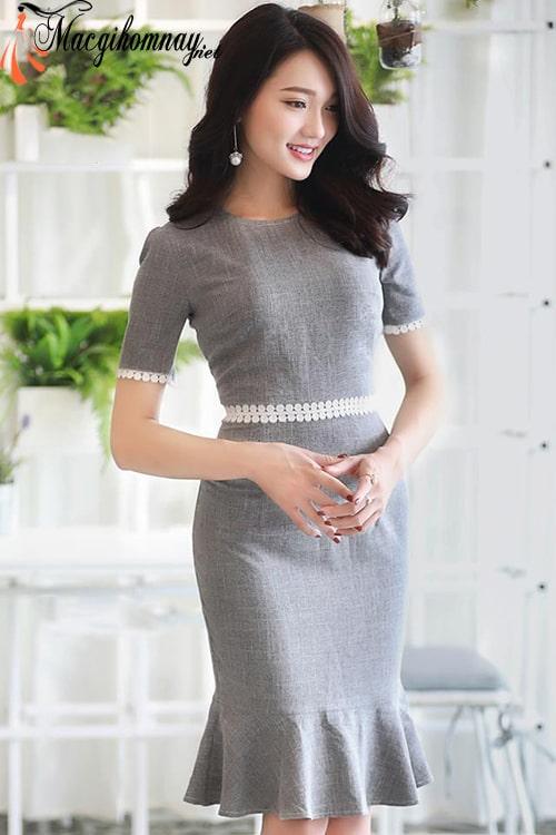 Váy đuôi cá cho phụ nữ tuổi 30