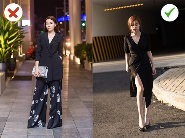 Với độ dài quá mức của quần và áo khiến cô nàng bên trái như cộng thêm 20 chục tuổi