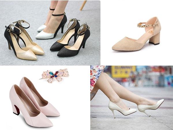 Một số mẫu giày cao gót phù hợp với môi trường công sở