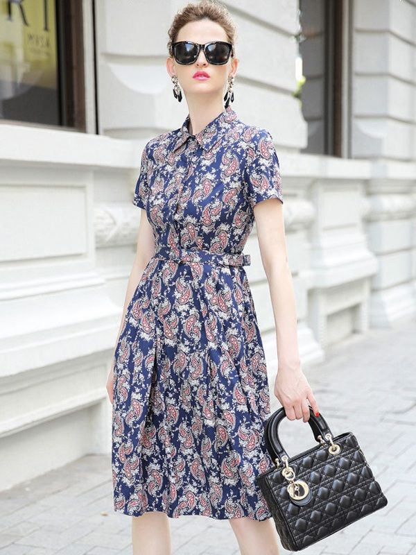 Váy đầm họa tiết