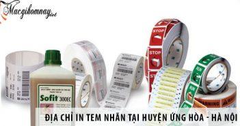 Địa chỉ in tem nhãn decal giá rẻ tại huyện Ứng Hòa - Hà Nội