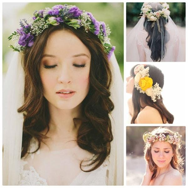 Những lưu ý khi dùng hoa cài tóc cô dâu ngày cưới