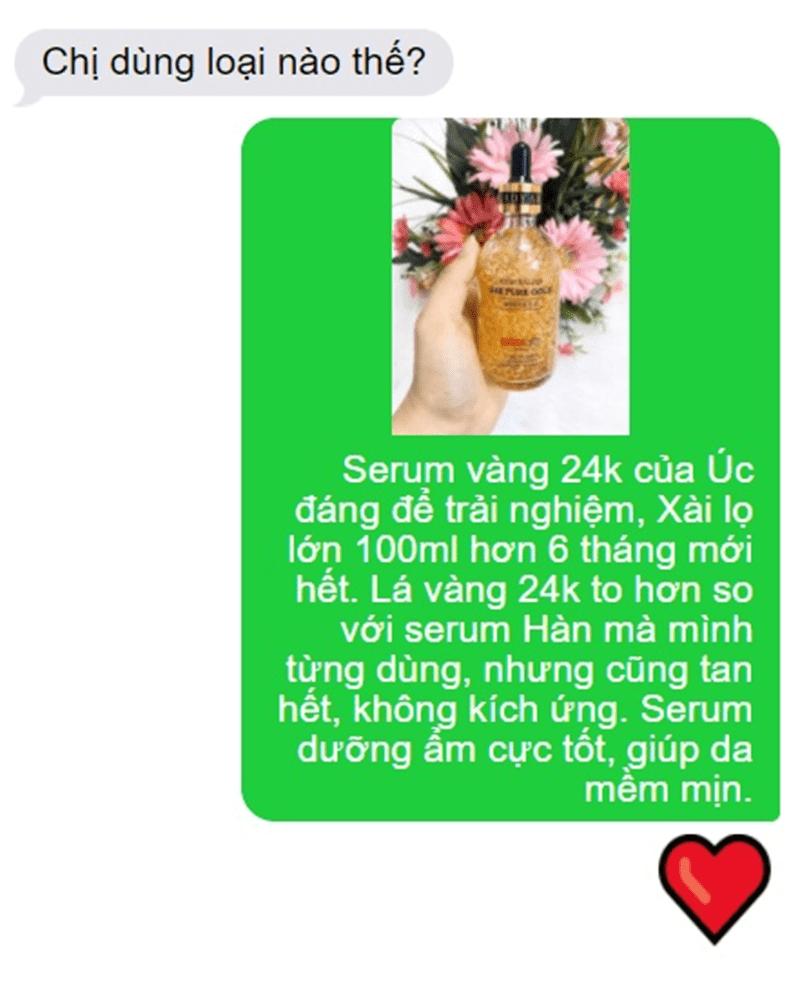 Review Serum tinh chất vàng 24K Thera Lady – Thần dược cho mọi làn da 2